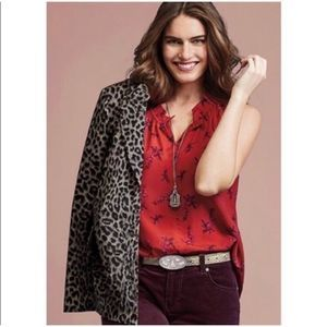 Cabi 5222 Fierce Top sleeveless tank red floral